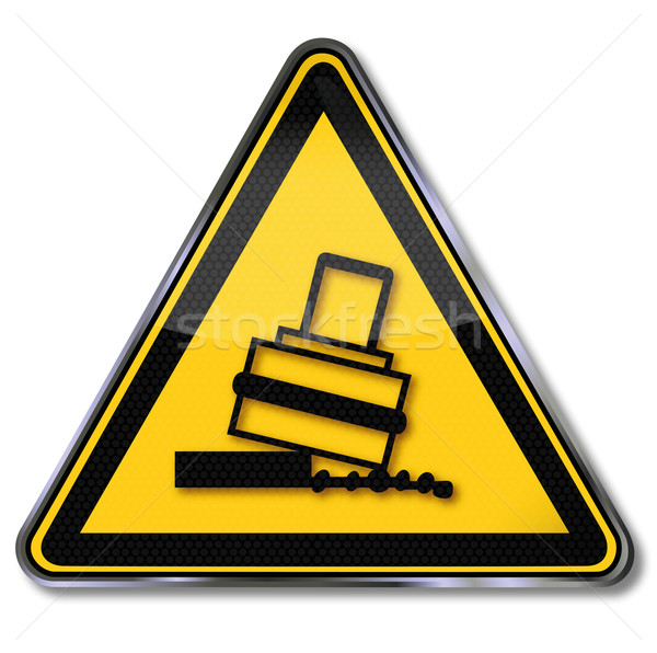 Warning sign toppling when rolling Stock photo © Ustofre9