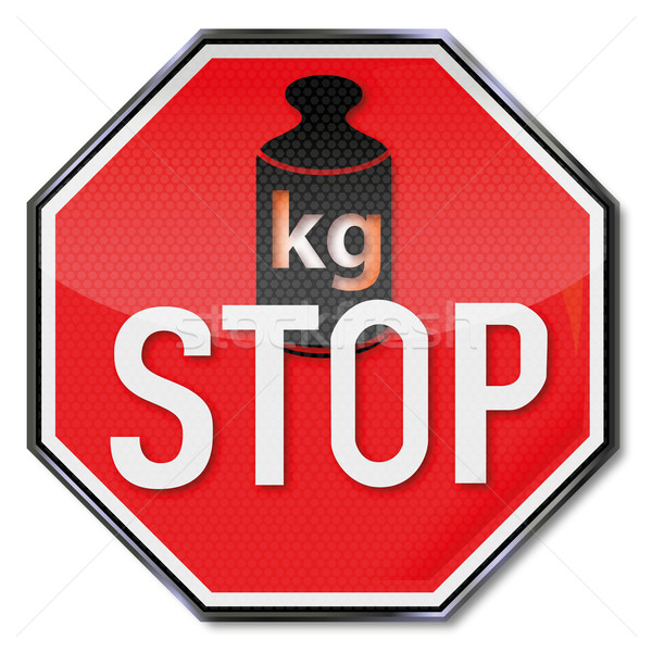 Stop sign no weight gain Stock photo © Ustofre9