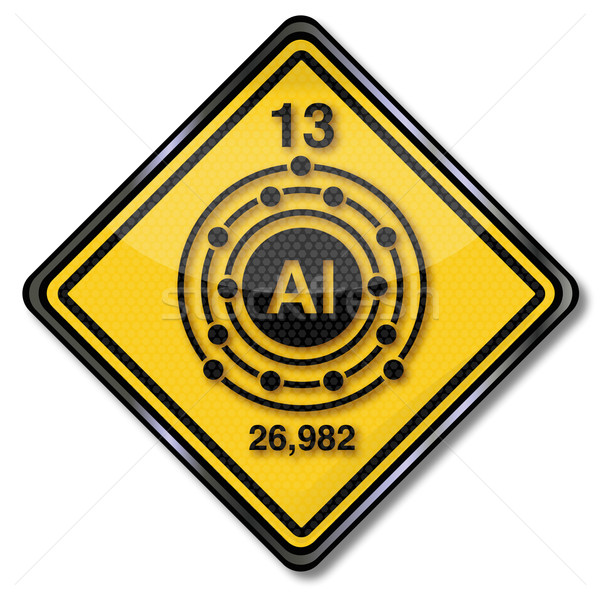 Felirat kémia karakter alumínium fém feliratok Stock fotó © Ustofre9