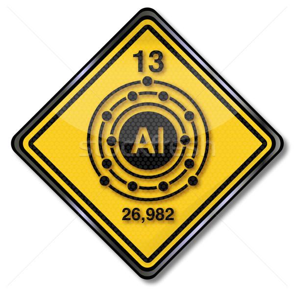 знак химии характер алюминий металл признаков Сток-фото © Ustofre9