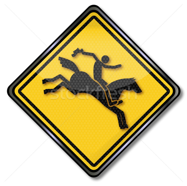 Sign with equestrian and rodeo  Stock photo © Ustofre9