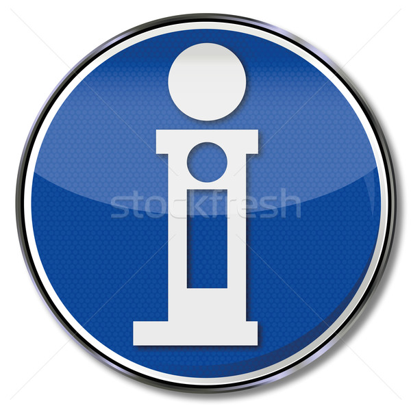 Shield with large I for contacts and information Stock photo © Ustofre9