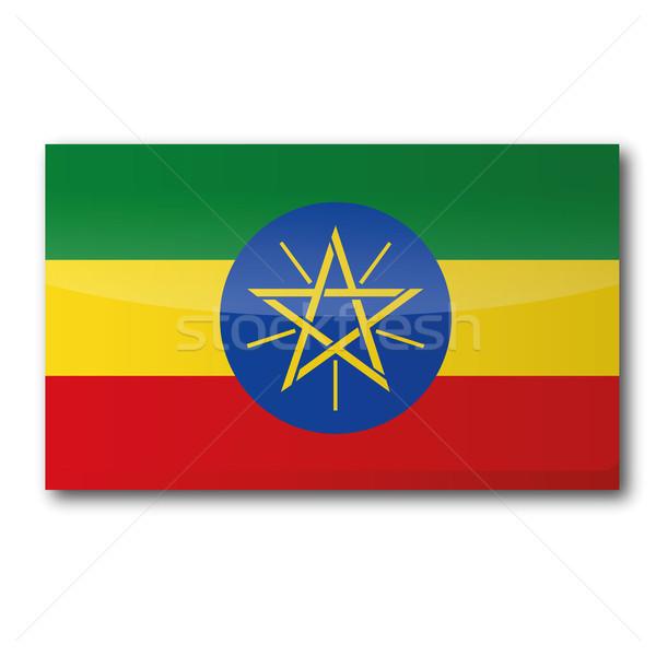 Flag Ethiopia Stock photo © Ustofre9