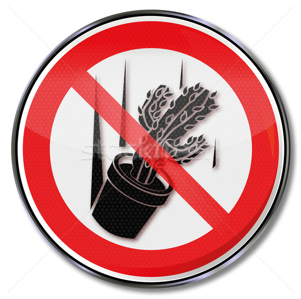 Prohibition sign please do not throw Cactus Stock photo © Ustofre9