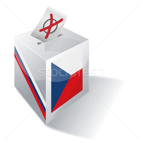Cédula caixa República Checa atravessar bandeira envelope Foto stock © Ustofre9