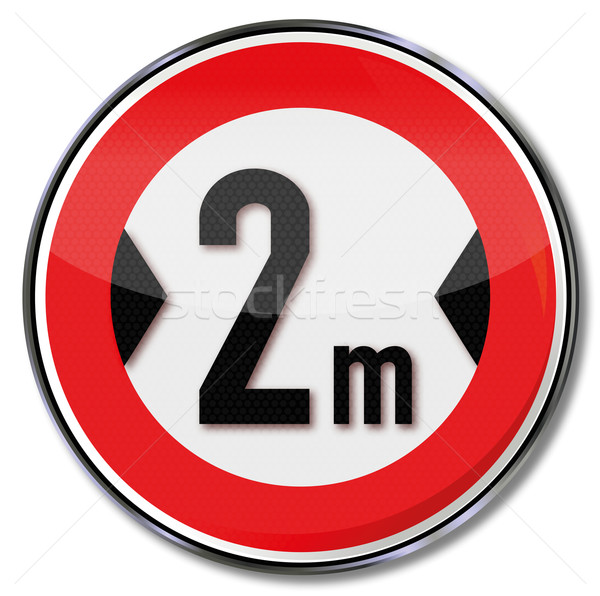 Traffic sign maximum width 2 meters Stock photo © Ustofre9