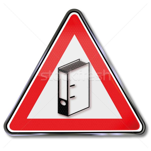 Sign with file folder Stock photo © Ustofre9