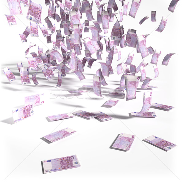Money rain of 500 euro bills Stock photo © Ustofre9