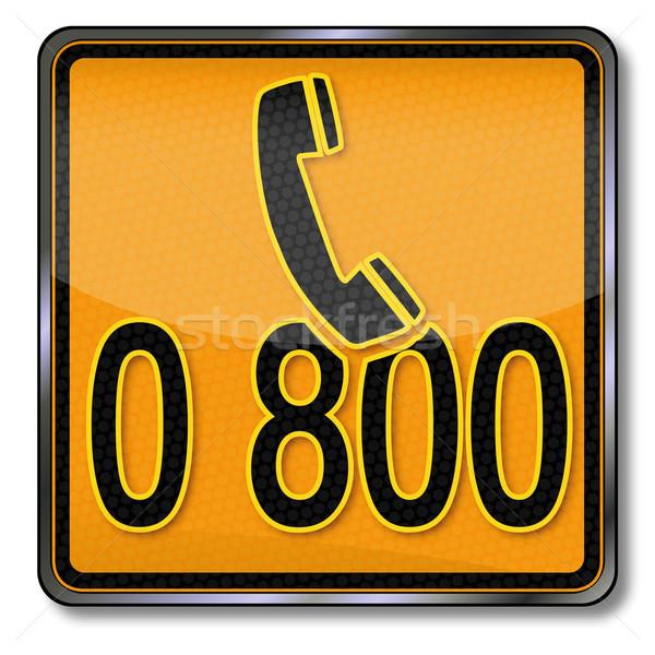 Telefoon teken groene helpen dienst gevaar Stockfoto © Ustofre9