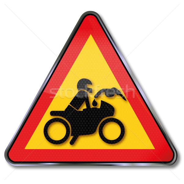 Geen motorfiets lopen hot motor teken Stockfoto © Ustofre9