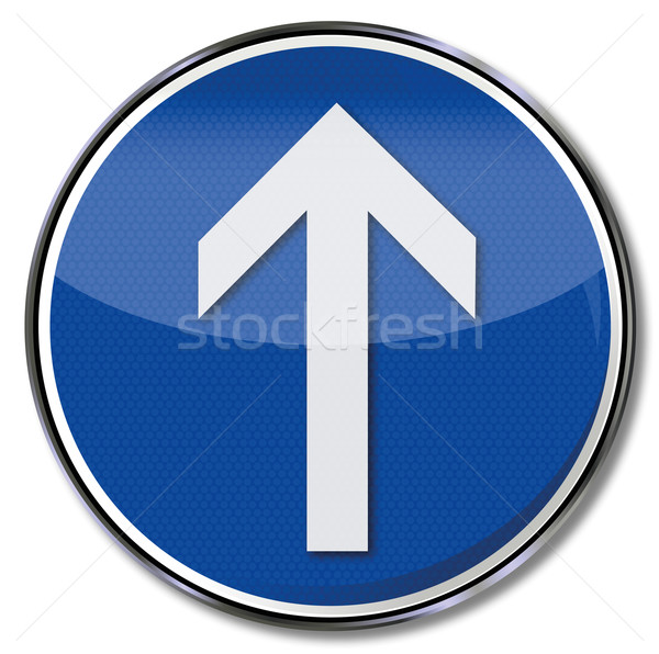 Sign arrow straight ahead Stock photo © Ustofre9