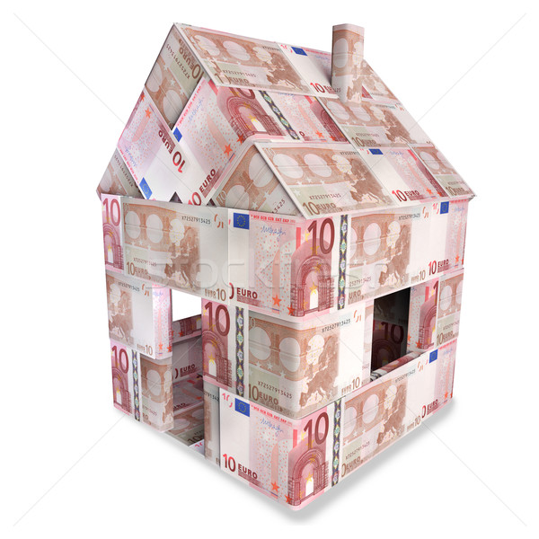 House with 10 euro notes  Stock photo © Ustofre9