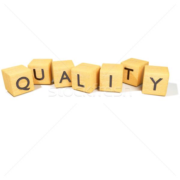 Cubes qualité bois Shopping nouvelles écrit Photo stock © Ustofre9