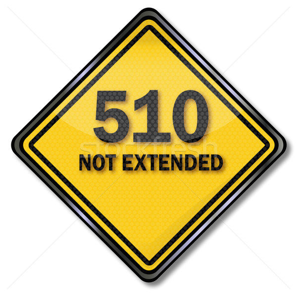 Stock photo: Computer sign and computer protection 510 not extended