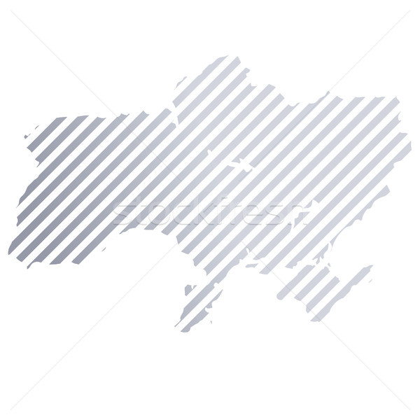 Map of the Ukraine in stripes Stock photo © Ustofre9