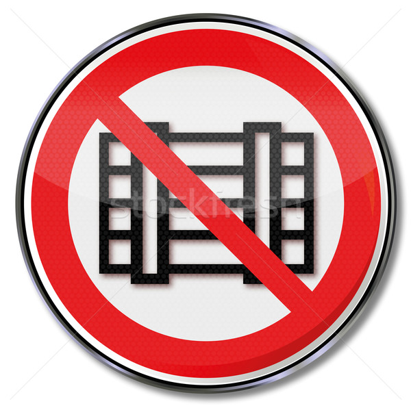 Prohibition sign or boxes and packaging Stock photo © Ustofre9