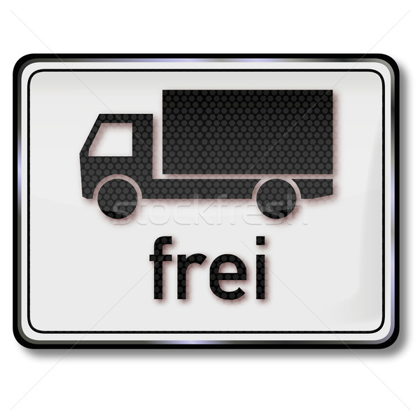 Free sign for trucks Stock photo © Ustofre9