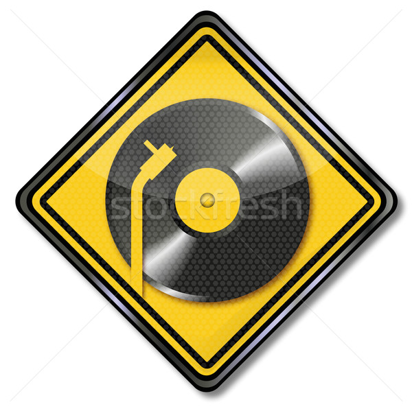 Sign turntable and music disk Stock photo © Ustofre9