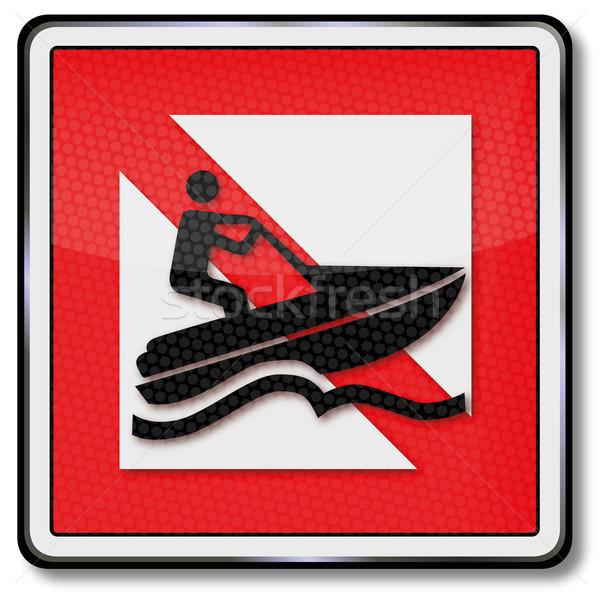 Navegación prohibir barco diversión lago Foto stock © Ustofre9