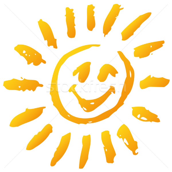Small funny scribble sun and sunshine Stock photo © Ustofre9
