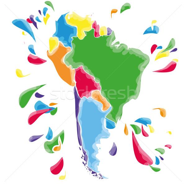 Ameryka południowa strony Pokaż tle zielone Zdjęcia stock © Ustofre9