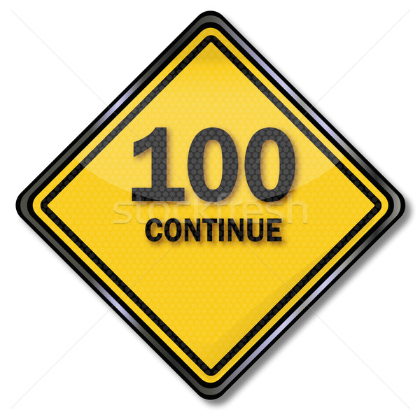 Computer sign 100 continue Stock photo © Ustofre9
