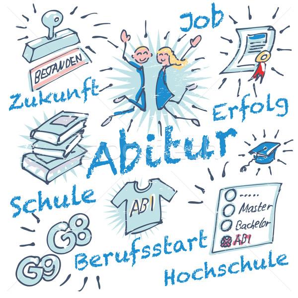 Strichmännchen und Abitur Stock photo © Ustofre9