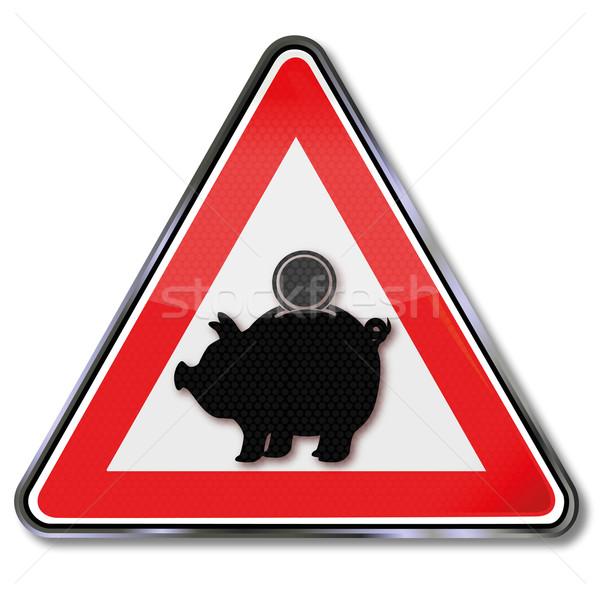 Zeichen Aufmerksamkeit Sparschwein Investitionen Business Welt Stock foto © Ustofre9