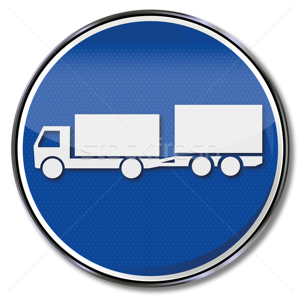 Kék felirat teherautó utca forgalom gomb Stock fotó © Ustofre9