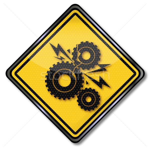Signe engins engins dommage industrielle ingénieur Photo stock © Ustofre9