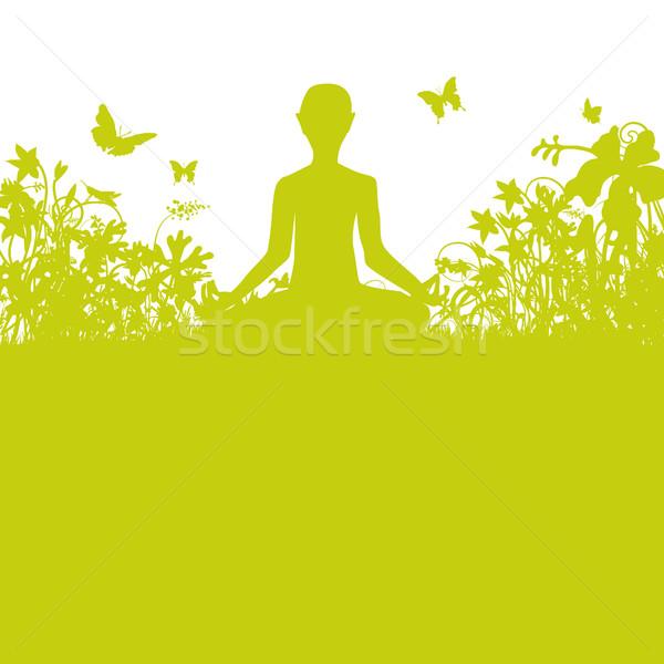 Meditating in the garden Stock photo © Ustofre9