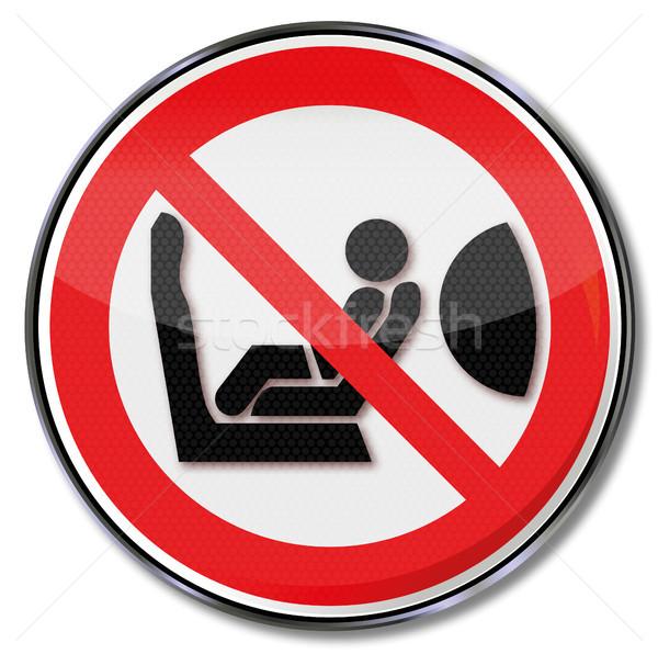 Airbag szkoda młodych dzieci baby Zdjęcia stock © Ustofre9