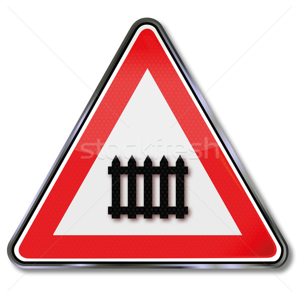 Trafik işareti seviye demiryolu tren trafik işaretleri Stok fotoğraf © Ustofre9
