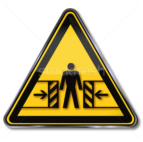 Danger sign warning of crushing Stock photo © Ustofre9