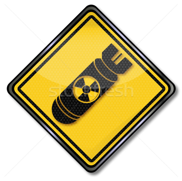 Hazard symbol bomb, atomic bomb and air war Stock photo © Ustofre9