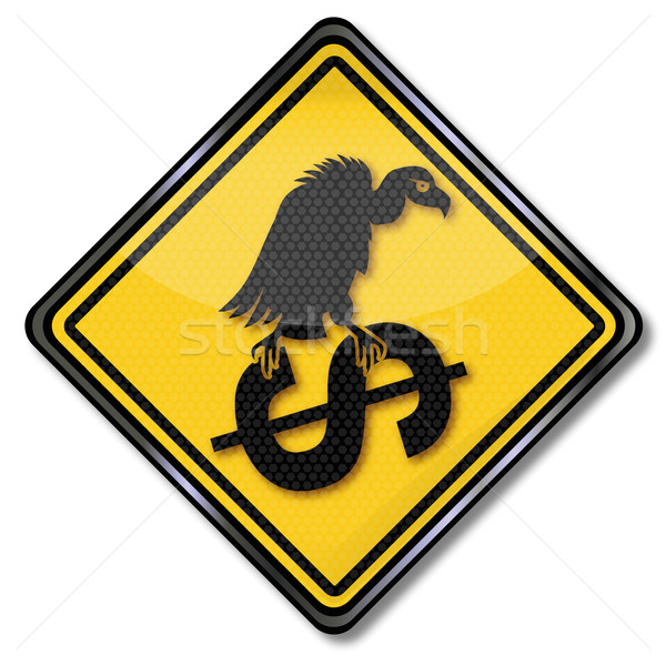 Sign dollar and vultures Stock photo © Ustofre9