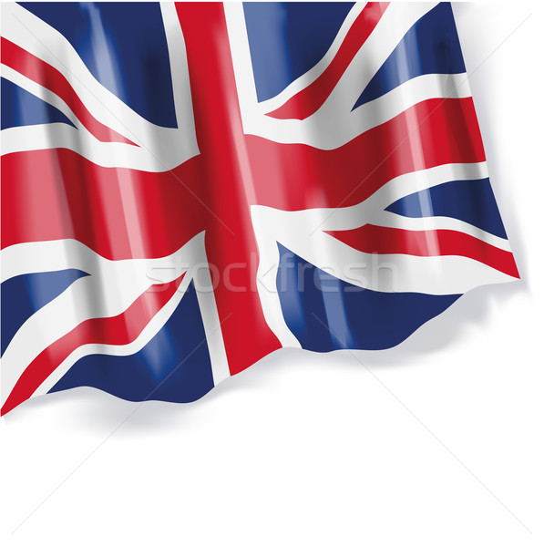 Waving flag of Great Britain Stock photo © Ustofre9