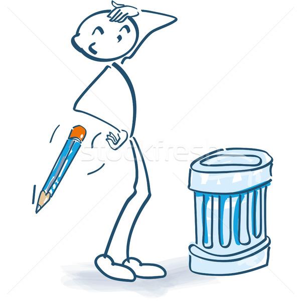 简笔划 垃圾桶 铅笔 服务 信息 垃圾 商业照片 ustofre9