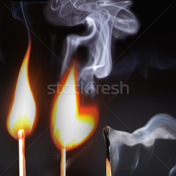 Three lighted matches Stock photo © Ustofre9