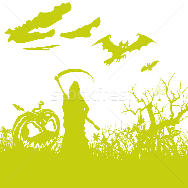 Bad ghost, death and Halloween Stock photo © Ustofre9