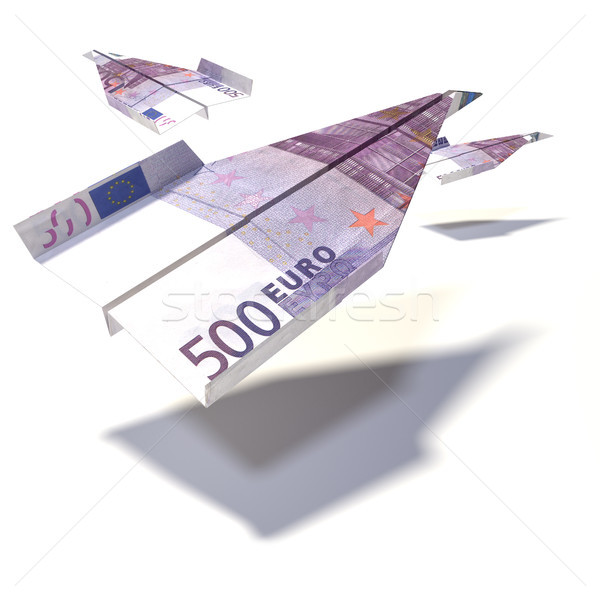 Paper plane from a 500 Euro bill Stock photo © Ustofre9