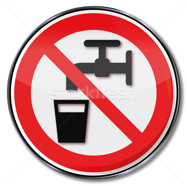 Prohibition sign no drinking water Stock photo © Ustofre9