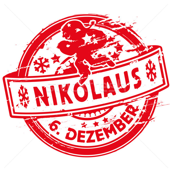 Rubber stamp Nicholas and sixth December Stock photo © Ustofre9