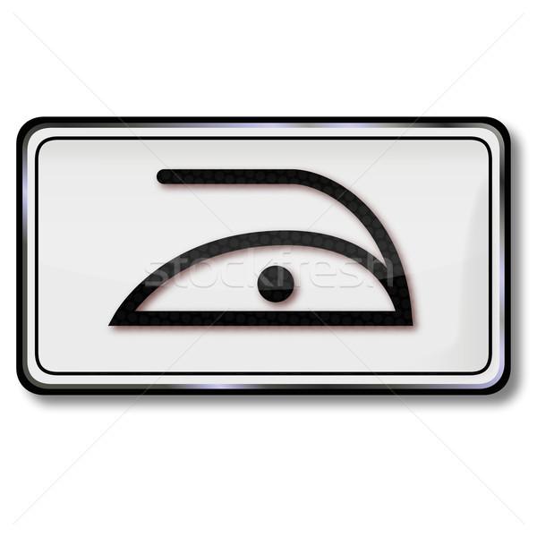 Tessili care simbolo carattere ferro Foto d'archivio © Ustofre9