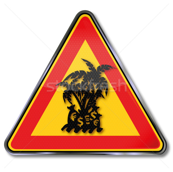 Warning sign tax haven  Stock photo © Ustofre9
