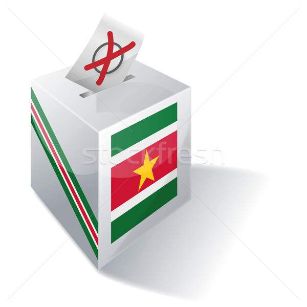 Ballot box Suriname Stock photo © Ustofre9