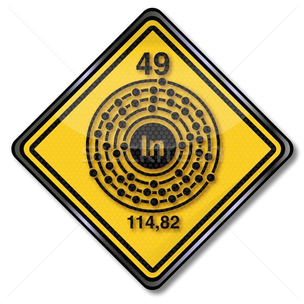 Signe chimie personnage signes recherche étiquette Photo stock © Ustofre9
