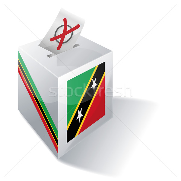 Ballot box St Kitts and Nevis Stock photo © Ustofre9