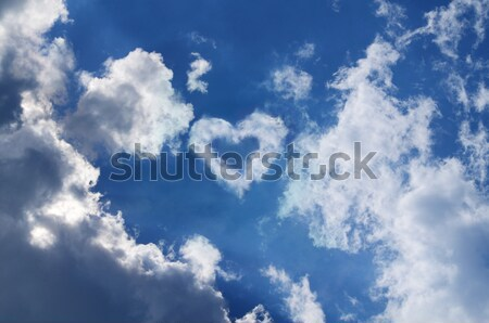 Sky with a heart in the clouds  Stock photo © Ustofre9