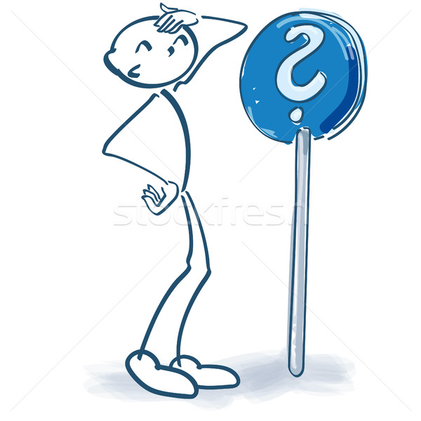 Stick figure with question mark Stock photo © Ustofre9